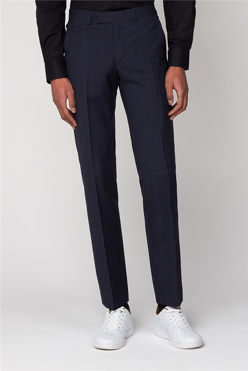 Slim Fit Midnight Checked Trousers
