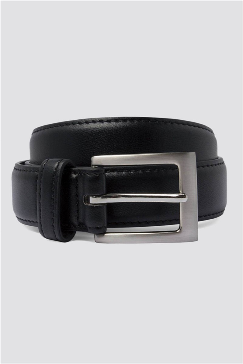 Black Top Stitch Belt