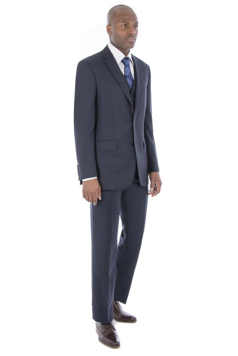 Navy Micro Regular Fit Suit