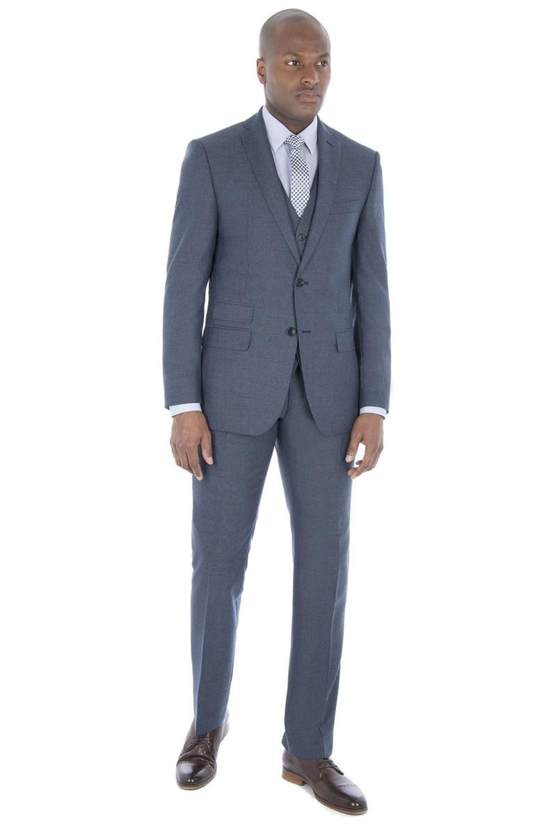 Blue Jaspe Tailored Fit Suit