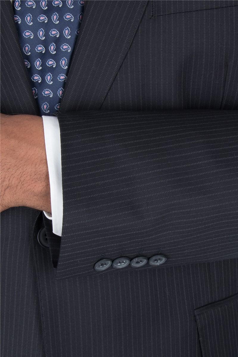 Navy Alternative Stripe Regular Fit Trouser