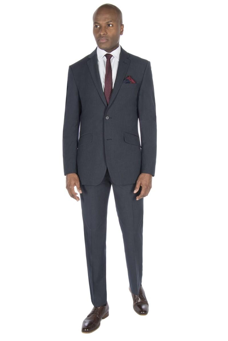 Blue Micro Regular Fit Suit