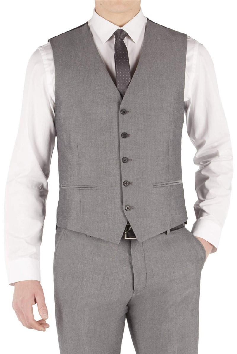 Silver Grey Tonic Slim Fit Waistcoat