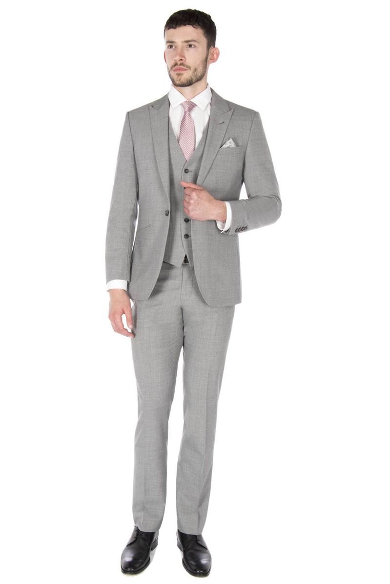 Light Grey Panama Tailored Fit Suit