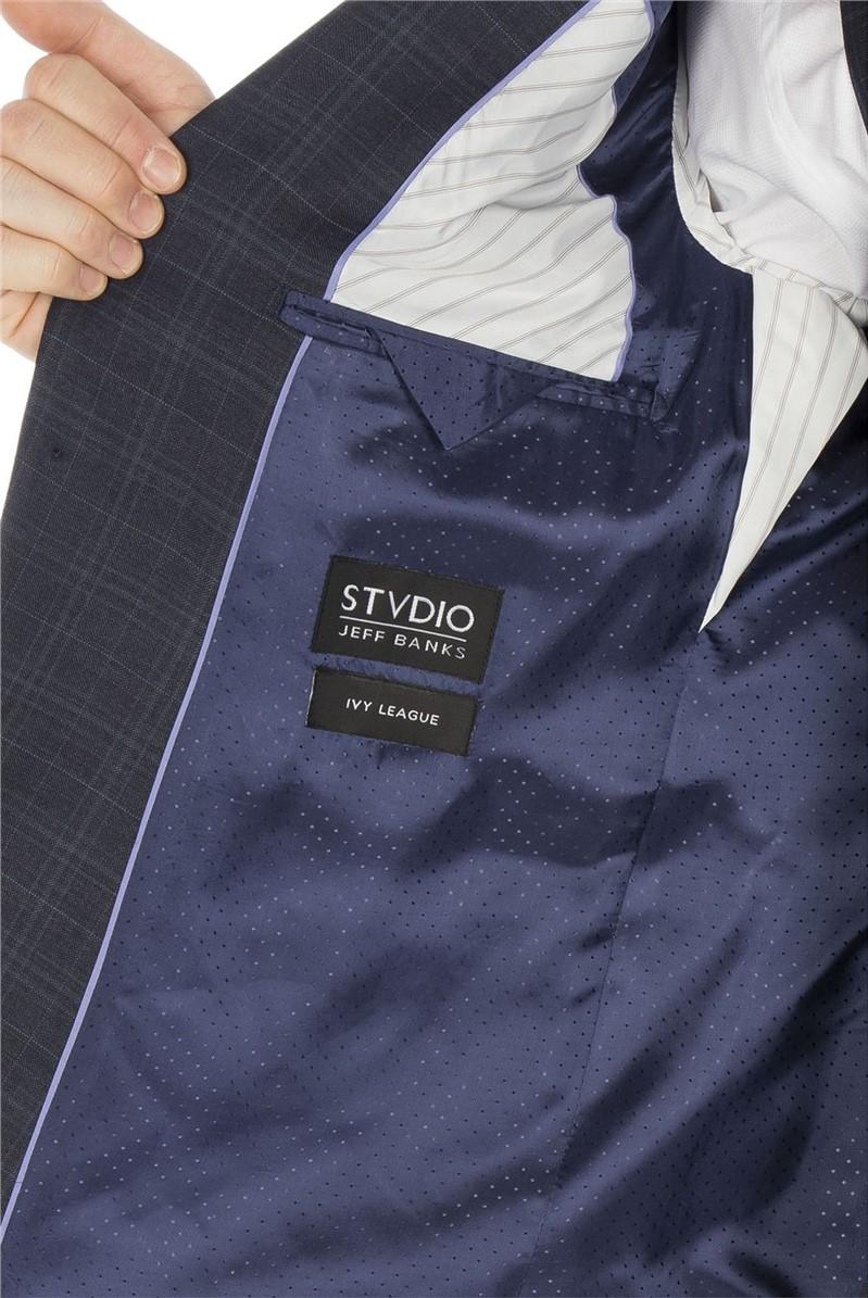 Stvdio Blue with Teal Overcheck Ivy League Waistcoat
