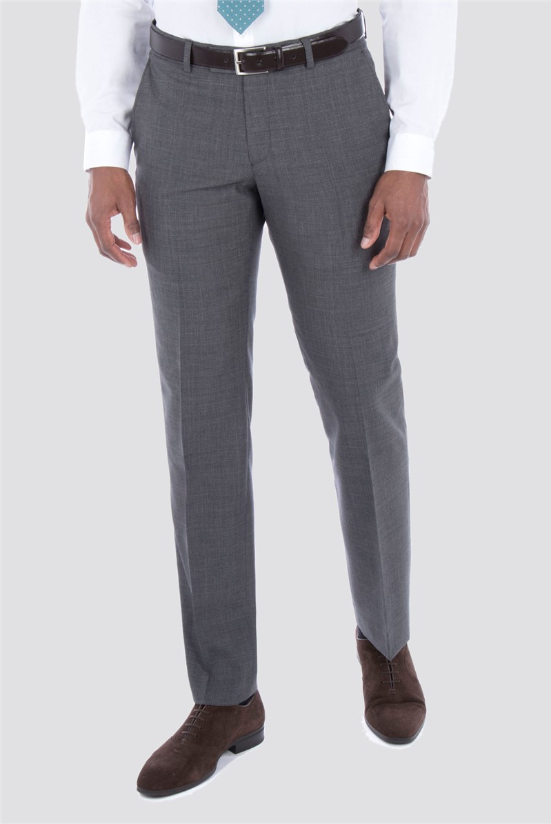Grey Tonal Check Suit Trousers