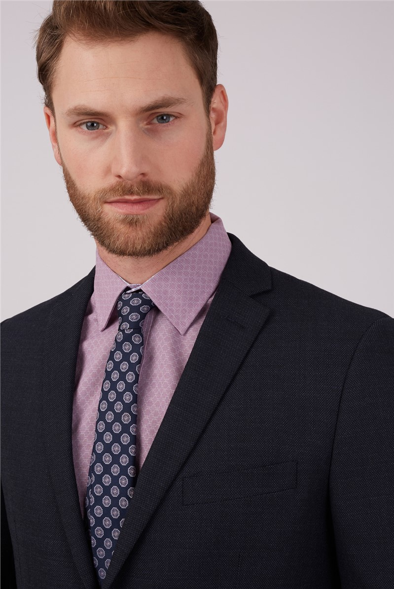 Stvdio by  Blue Birdseye Tailored Fit Performance Suit Jacket