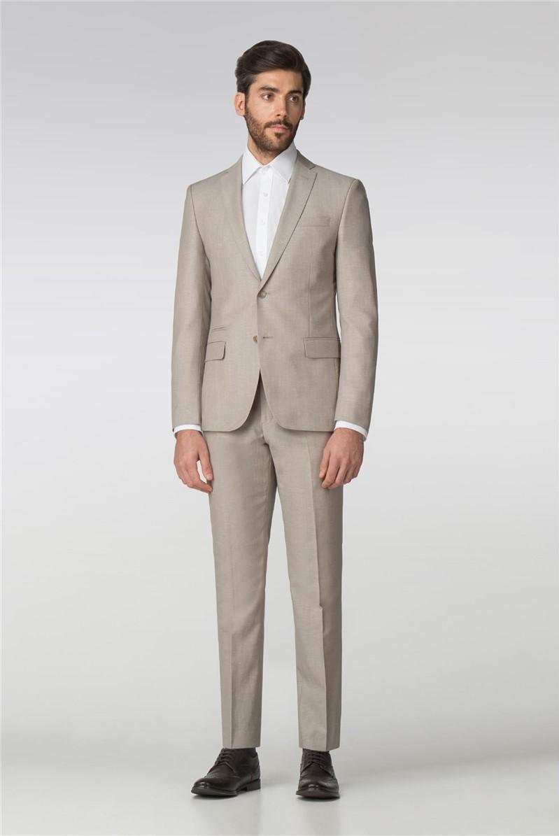 Sand Linen Blend Tailored Fit Suit