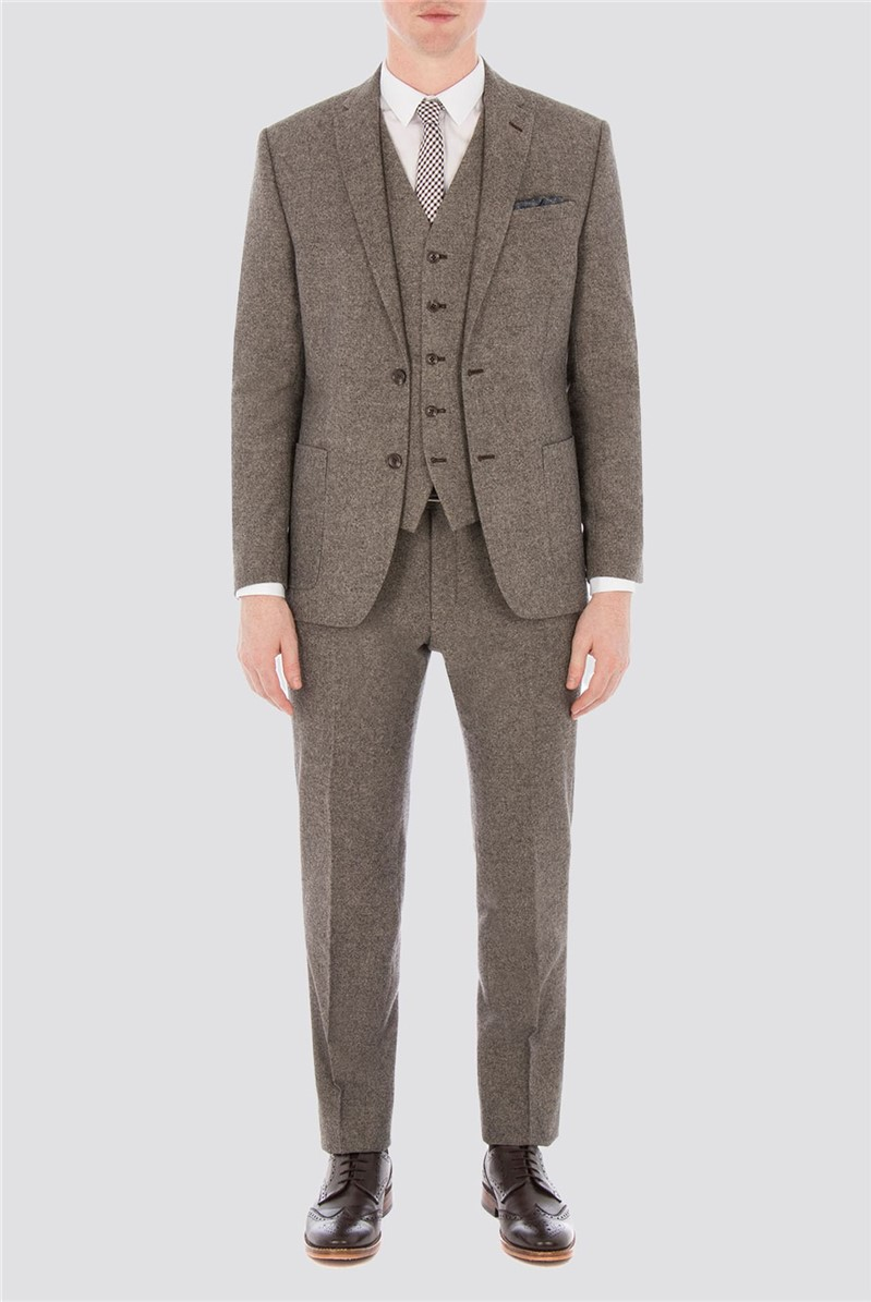 Oatmeal Donegal Slim Fit Suit