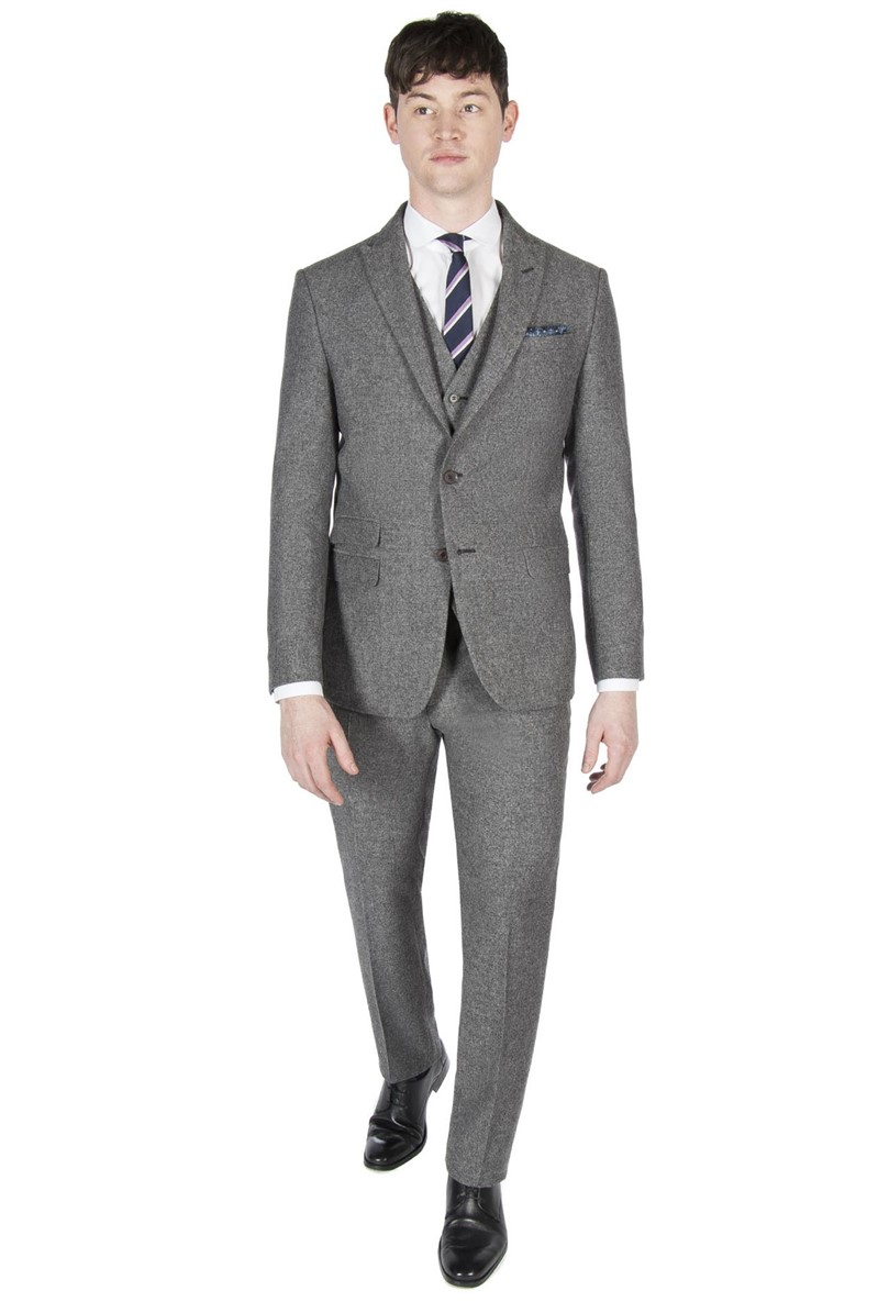 Grey Donegal Tweed Slim Fit Suit