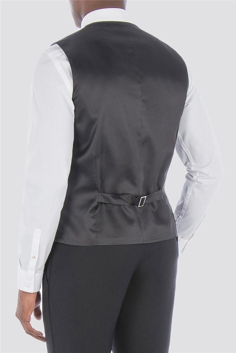 Black Satin Wool Blend Tailored Fit Dinner Suit