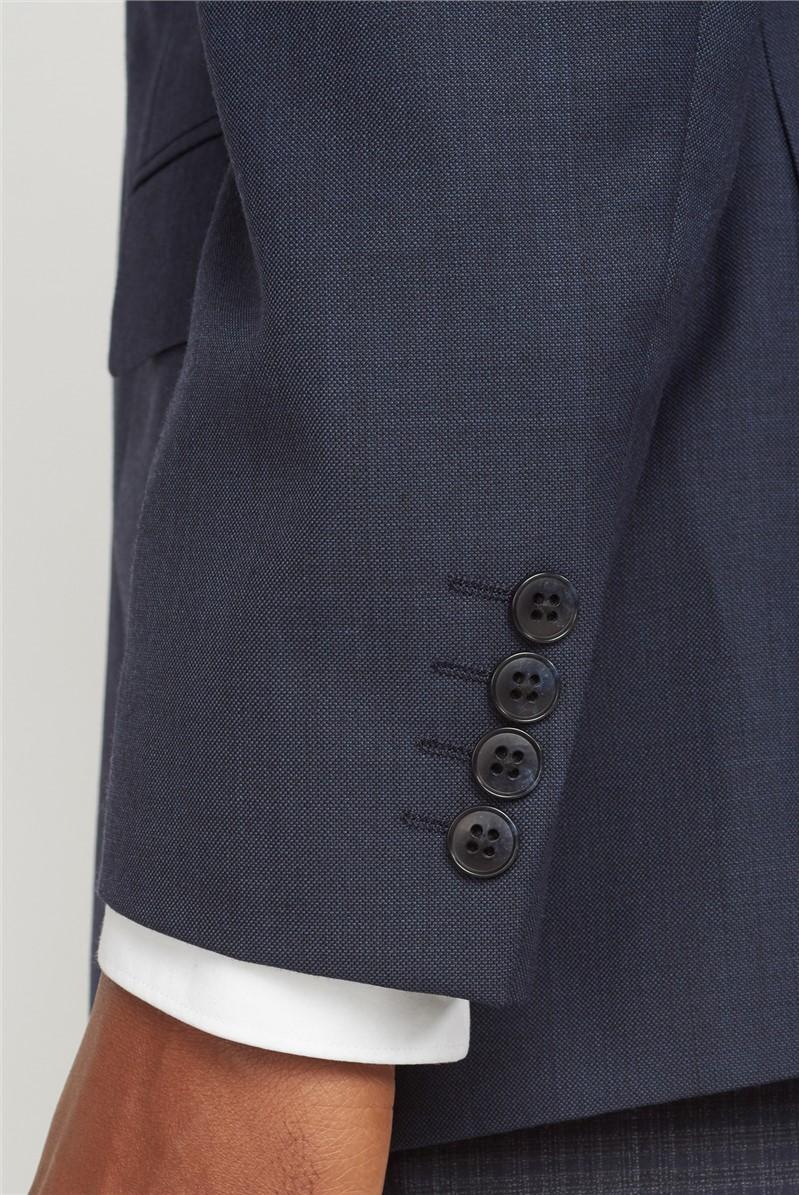 Deep Blue Pick & Pick Athletic Fit Suit Jacket