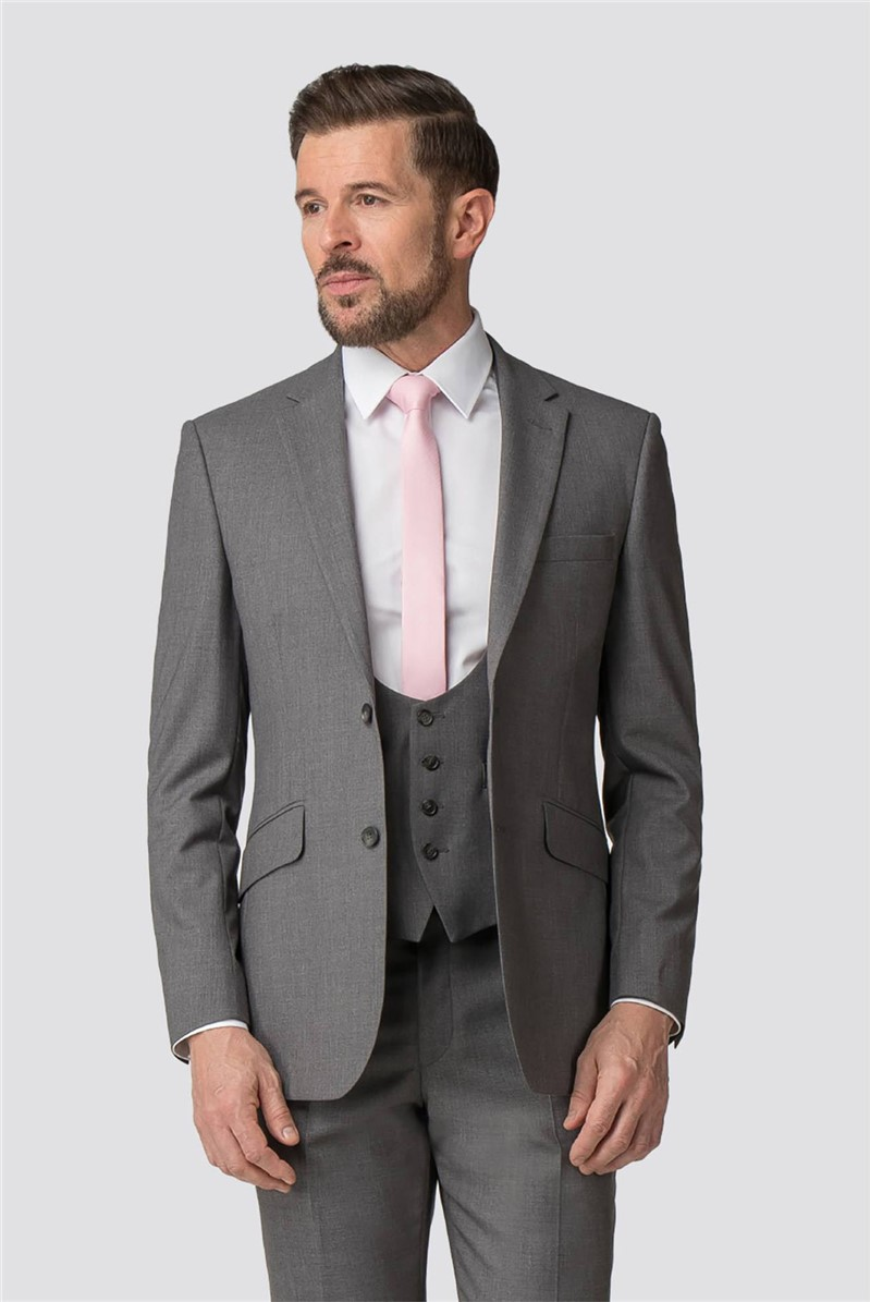 Occasions Grey Adjustable Fit Waistcoat