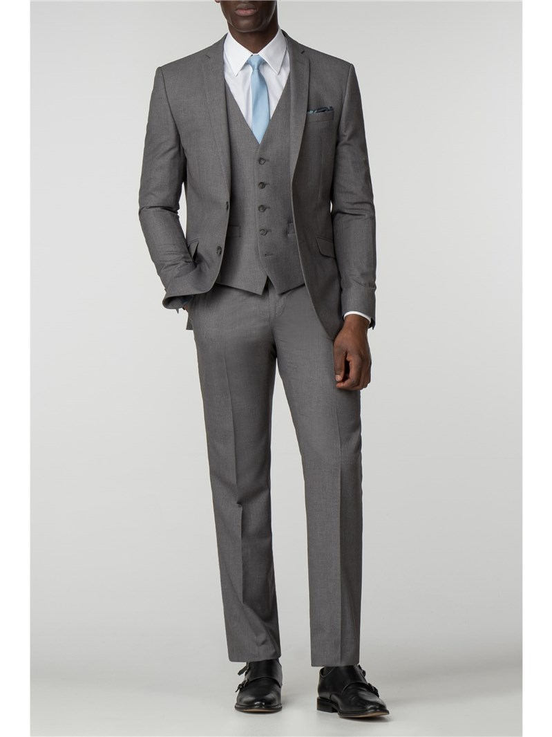 Occasions Grey Tailored Fit Lounge Suit