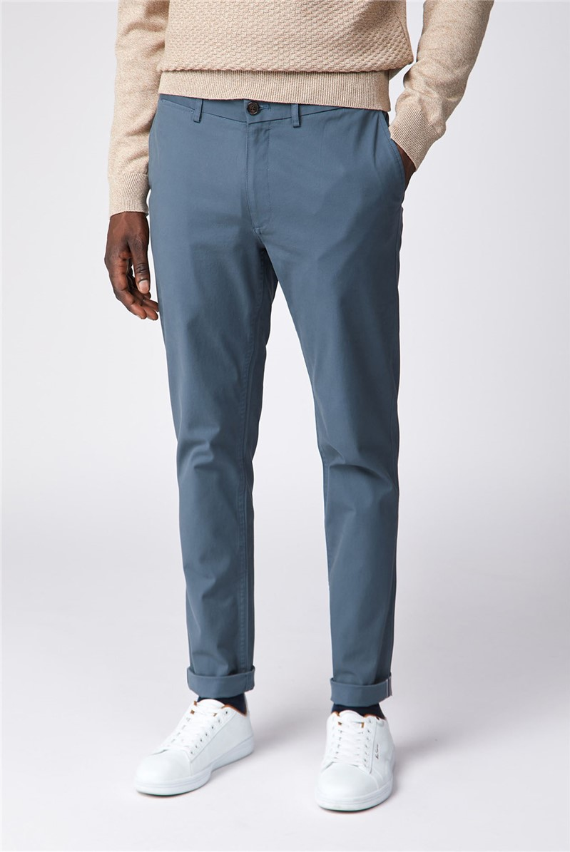 Blue Slim Stretch Chino