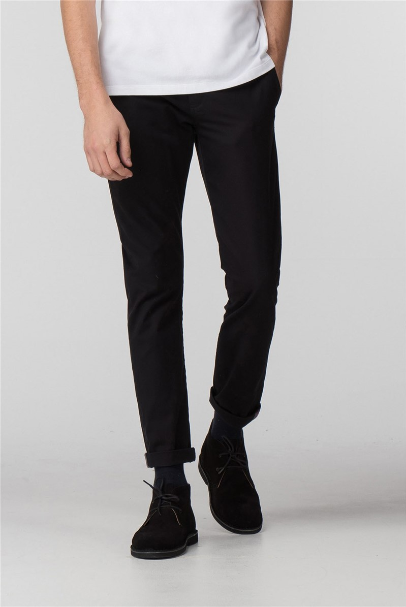 Black Slim Stretch Chino