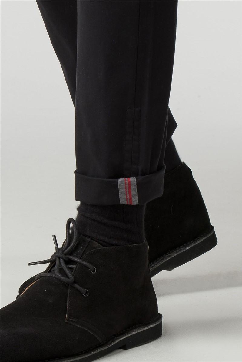 Black Skinny Fit Stretch Chinos