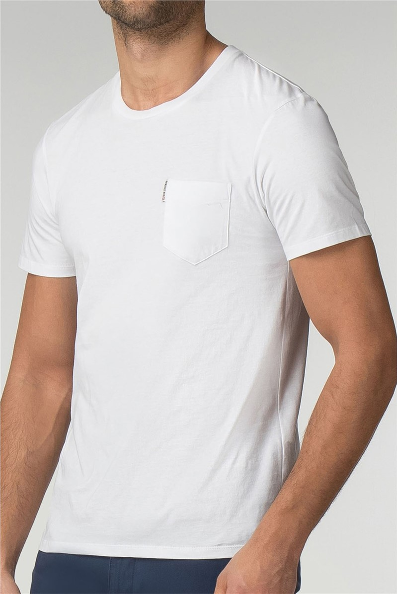 White Pocket Crew Neck T-Shirt