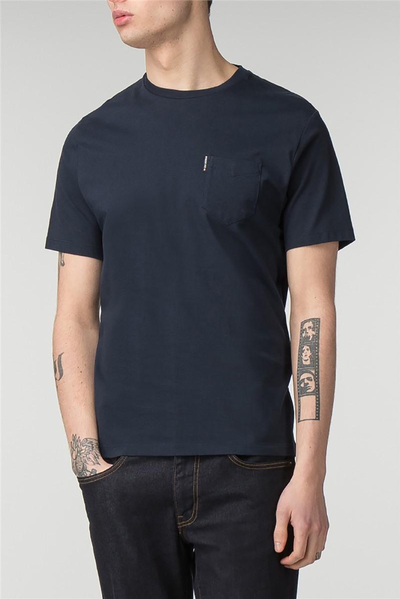 Navy Pocket Crew Neck T-Shirt
