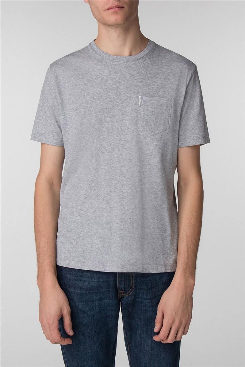 Grey Pocket Crew Neck T-Shirt