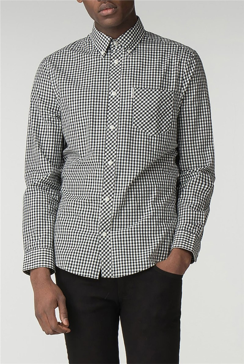 Long Sleeve Black Gingham Shirt