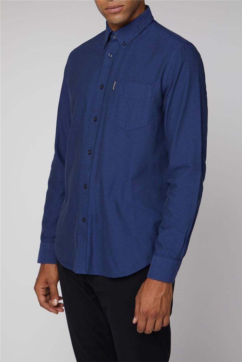 Dark Blue Long Sleeve Oxford Shirt