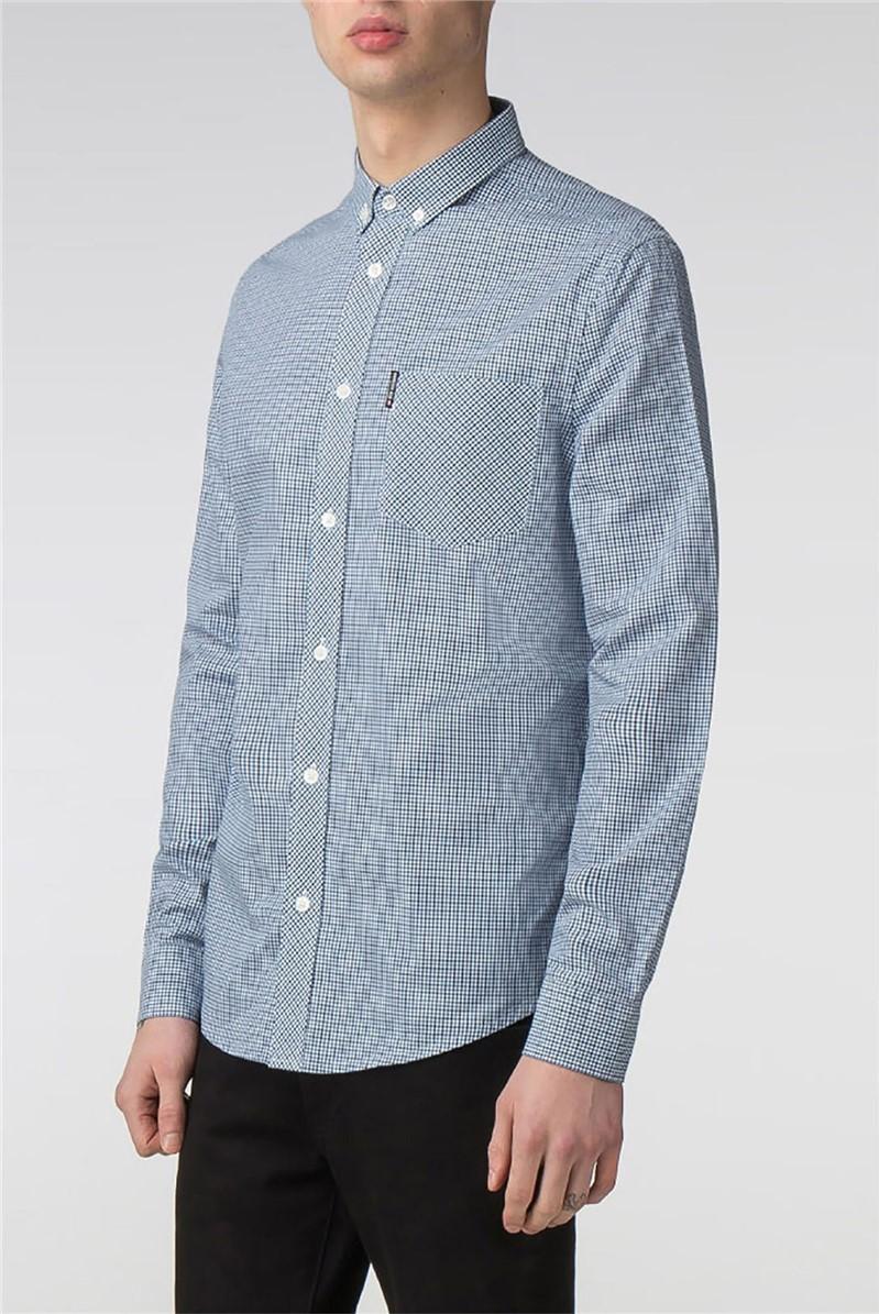 Blue Long Sleeve Mini House Gingham Shirt