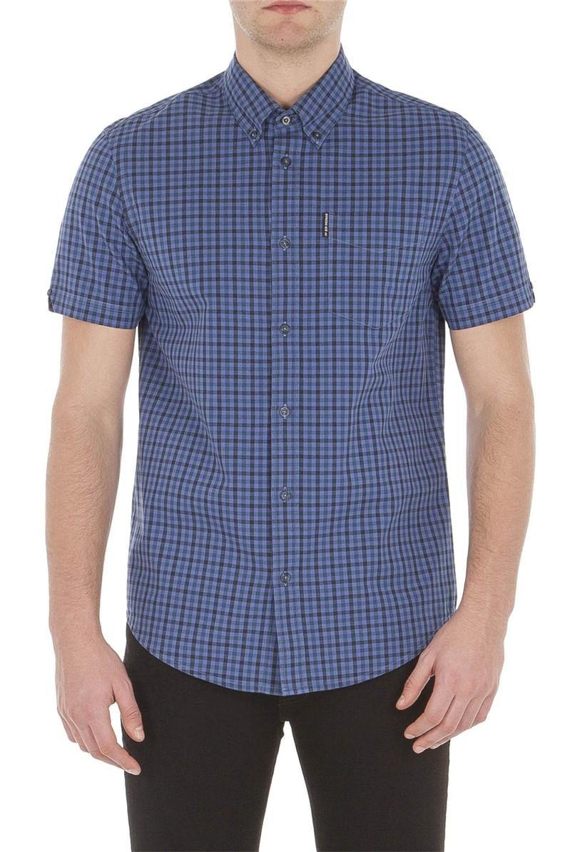 Blue Short Sleeve Gingham Shirt