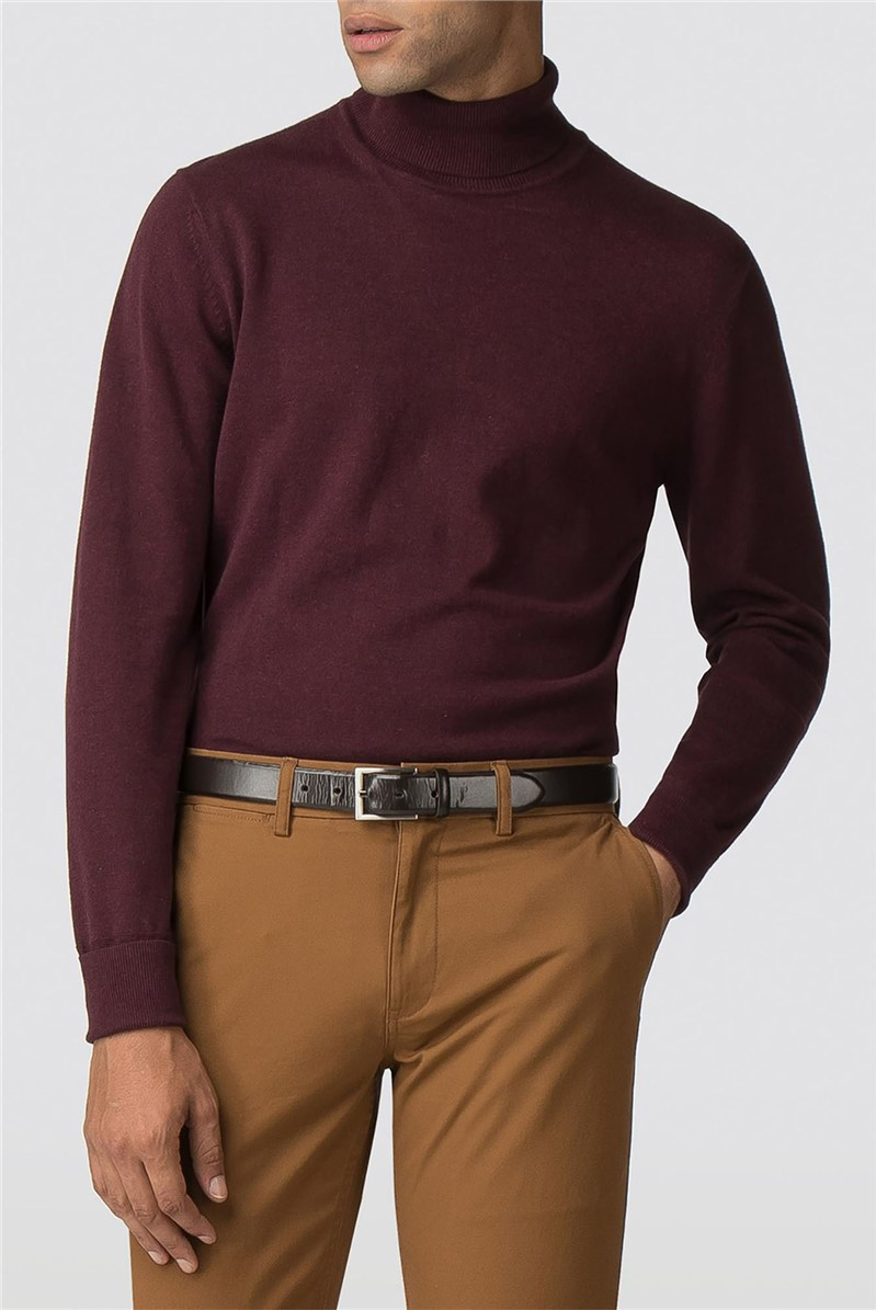 Wine Fine Gauge Roll Neck