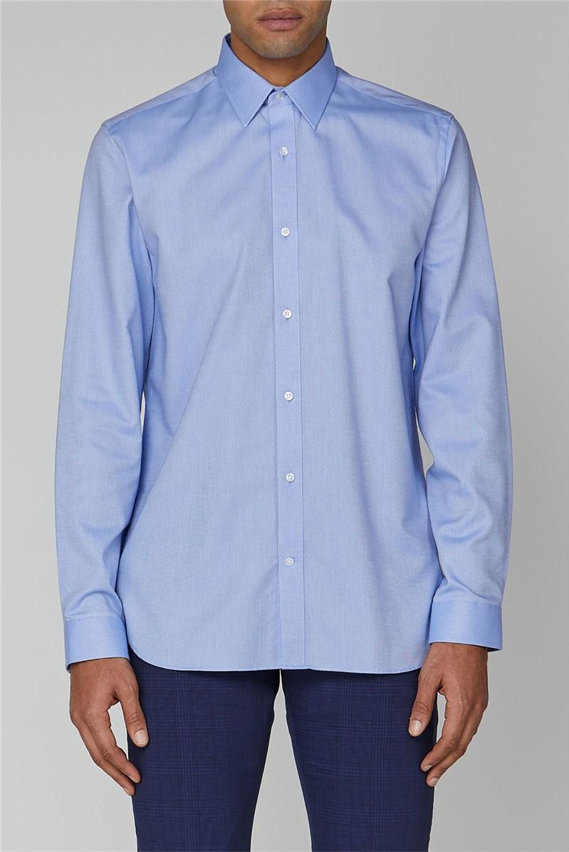 Blue Plain Oxford Formal Shirt