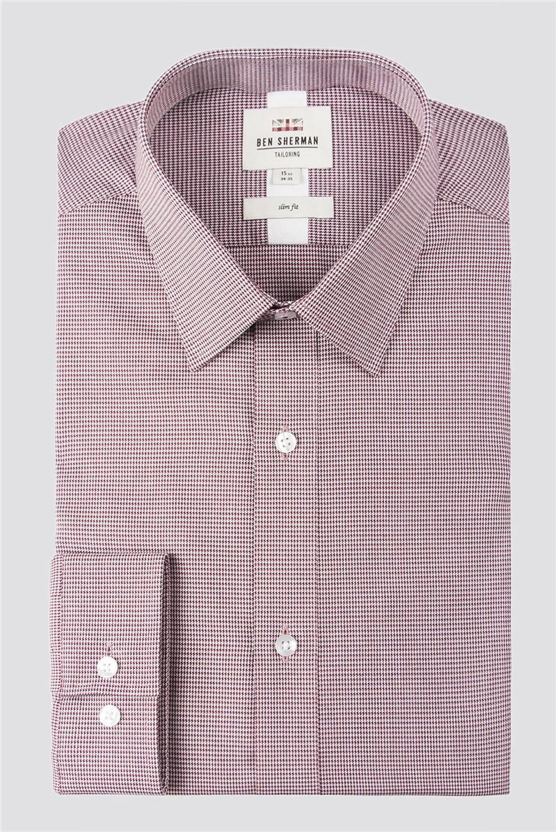 Wine Oxford Formal Shirt