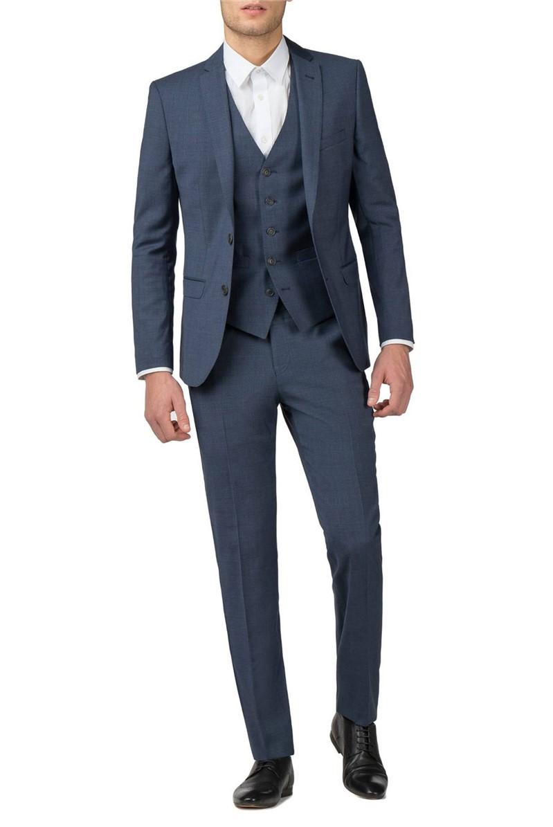 Blue Textured Tonic Camden Fit Suit