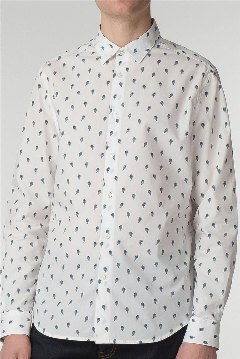 Long Sleeve Peacock Print Shirt