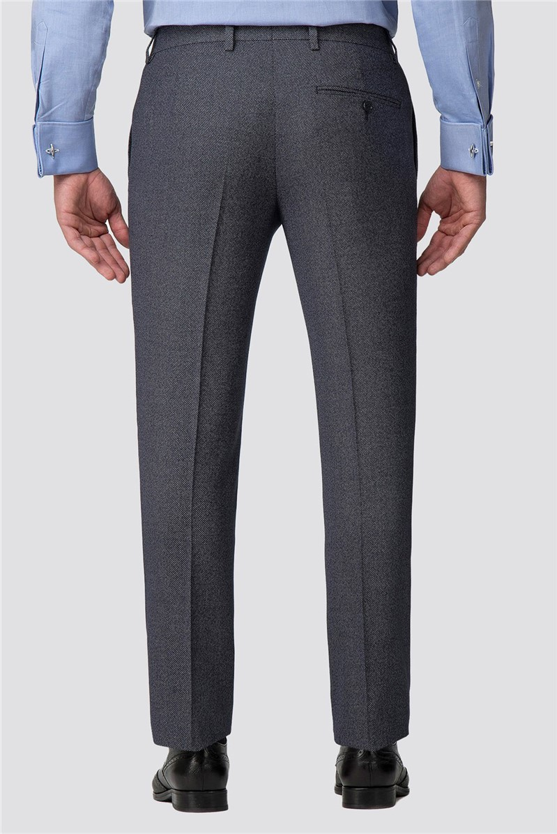 Grey Jaspe Effect Tailored Fit Trousers