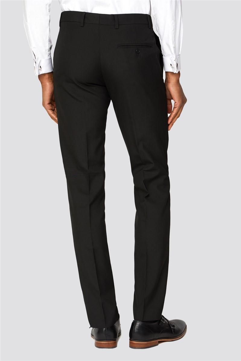 Branded Black Slim Fit Suit Trousers