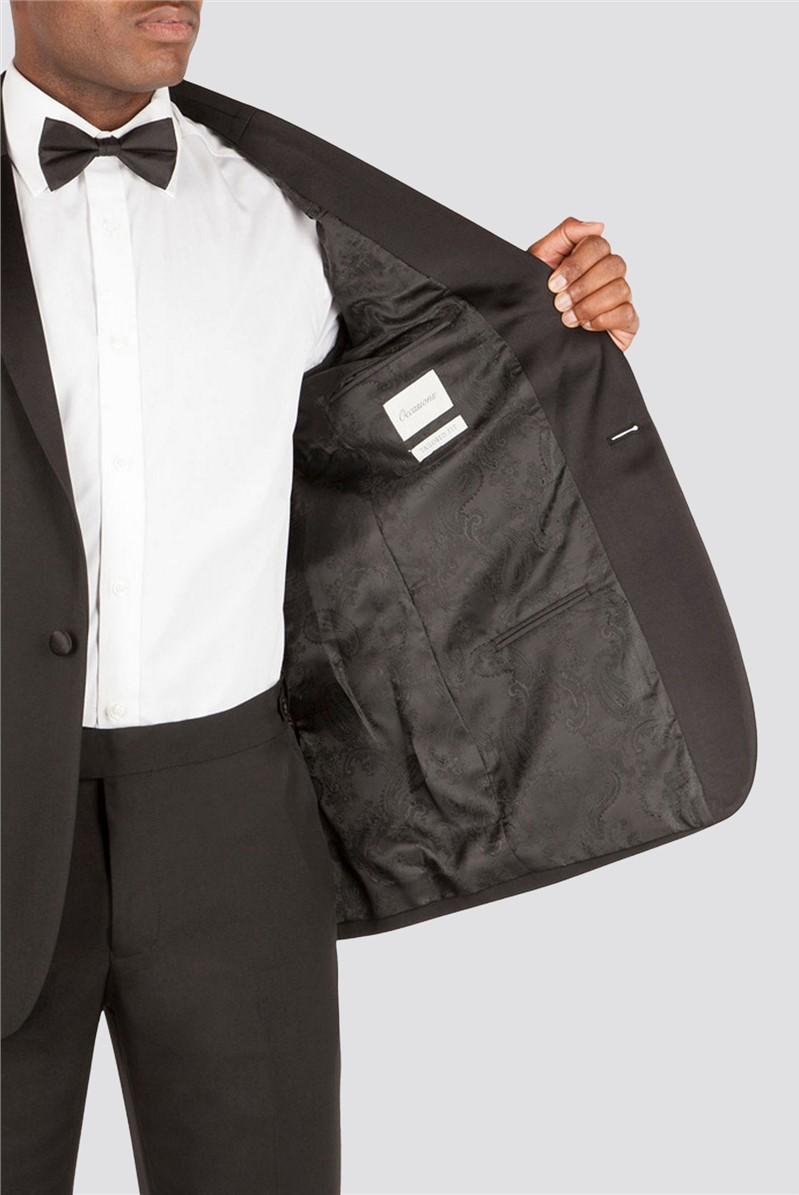 Black Tailored Tuxedo Trousers