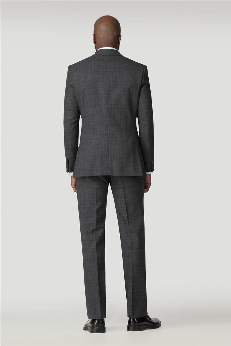 Grey Check Regular Fit Travel Waistcoat