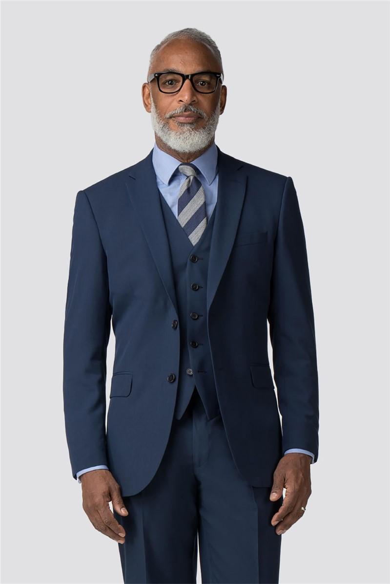 Plain Blue Panama Regular Fit Suit