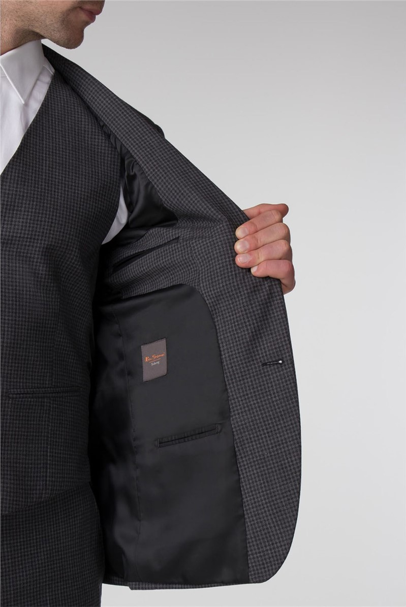 Charcoal Jaspe Gingham Tailored Fit Waistcoat