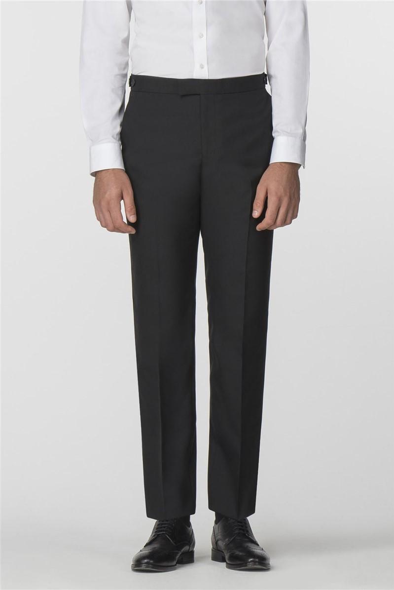 Black Tailored Fit Dresswear Trouser