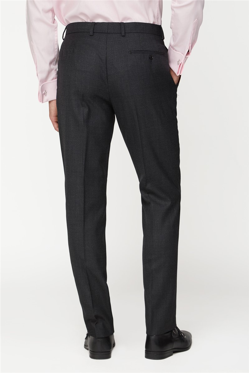 Outlet CHARCOAL REGULAR FIT SUIT TROUSERS