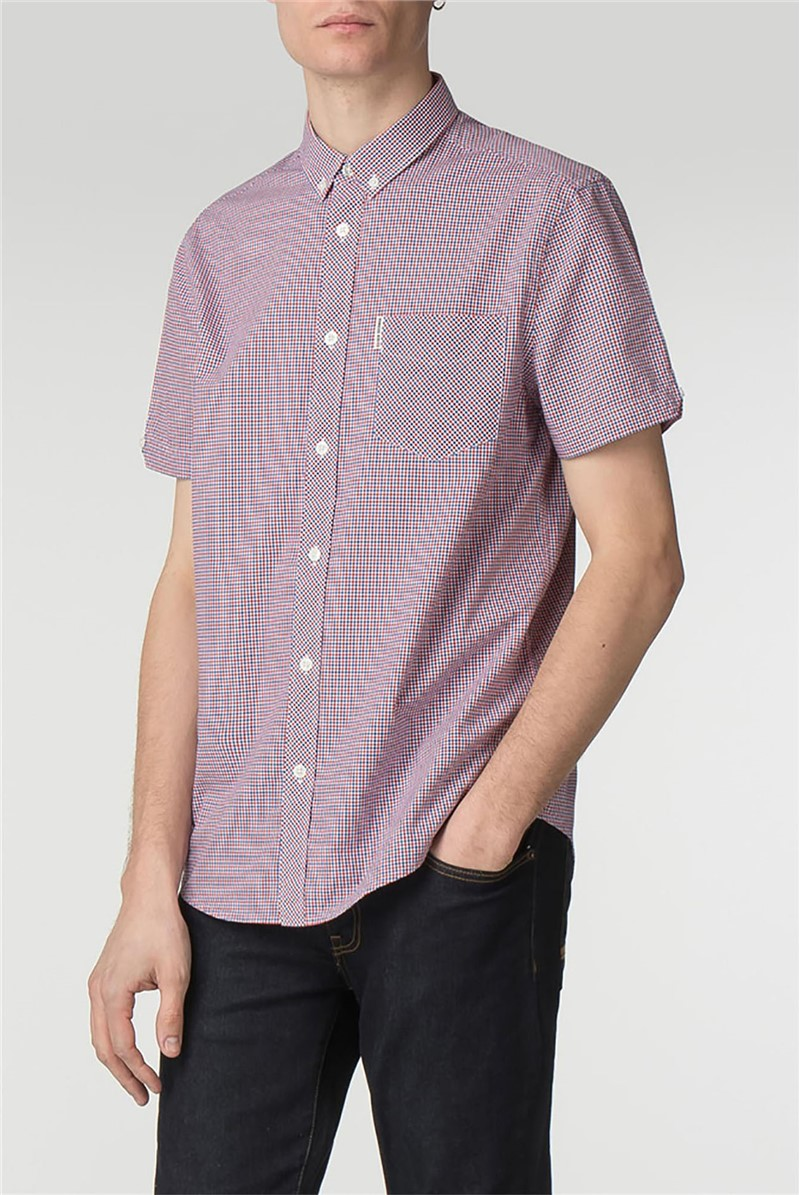 Short Sleeve Red House Gingham Shirt