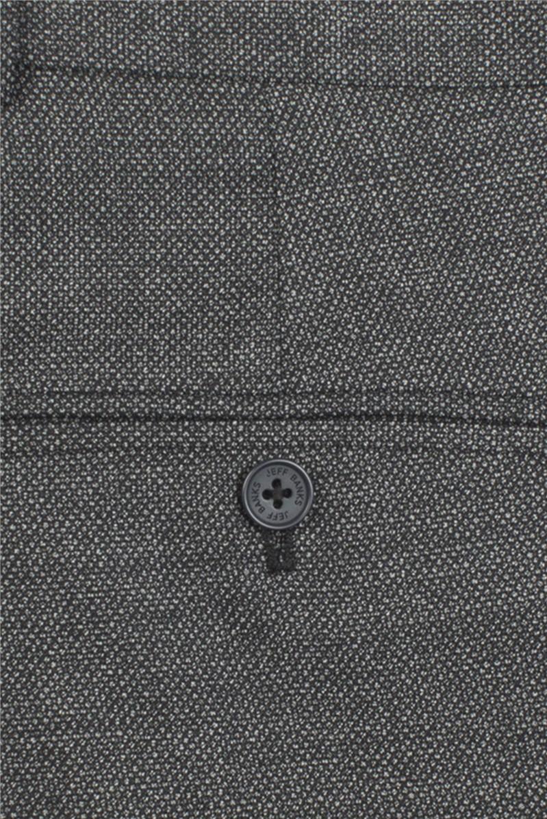 Grey Birdseye Slim Wool Blend Trouser