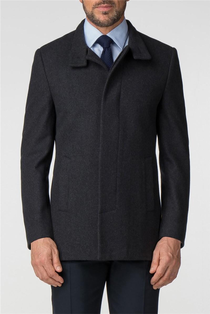 Charcoal Melton Bounty Overcoat
