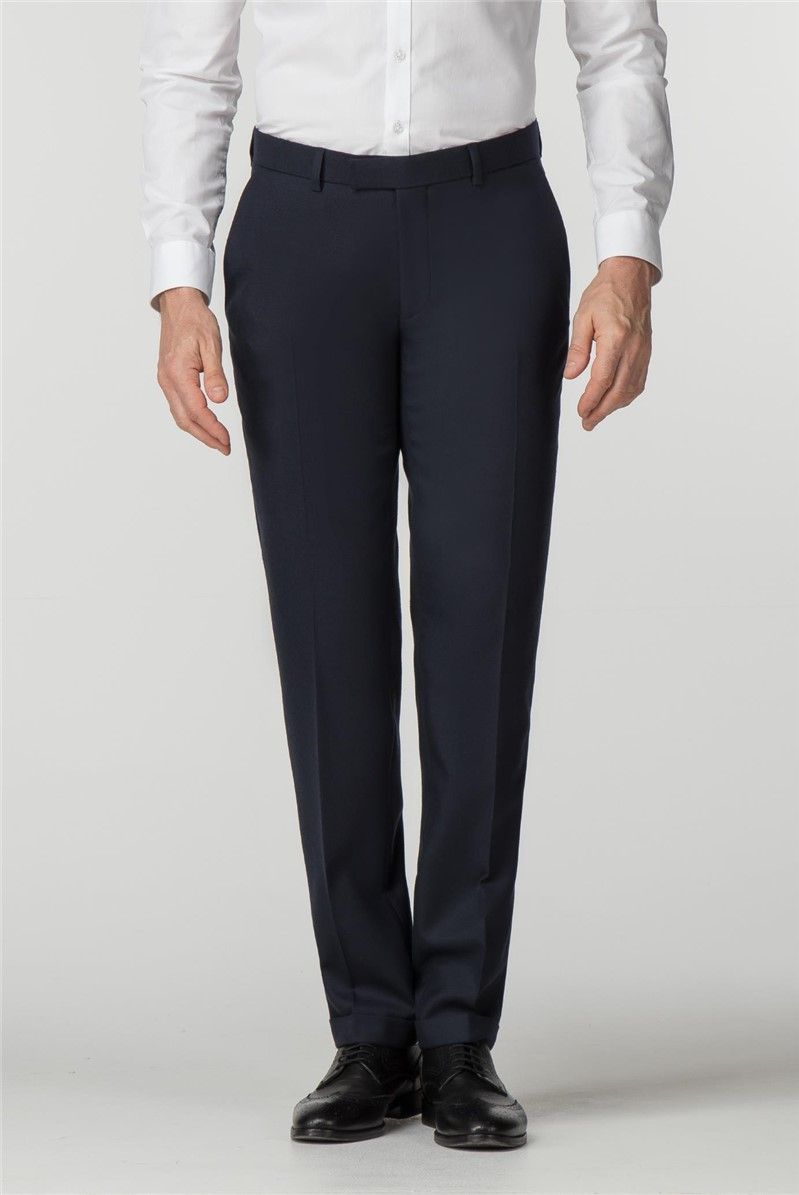 Navy Flannel Tailored Trousers