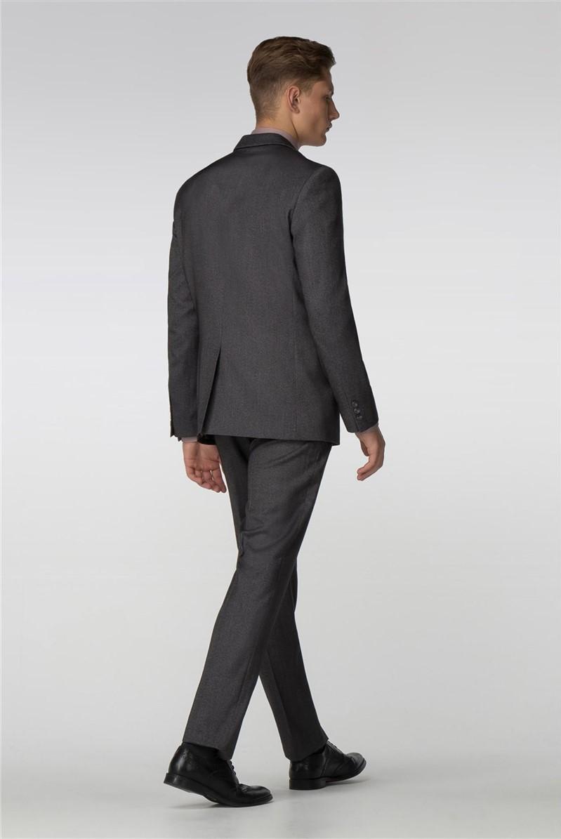 Grey Birdseye Slim Fit Suit