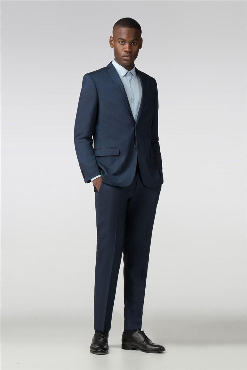 Blue Birdseye Slim Fit Suit