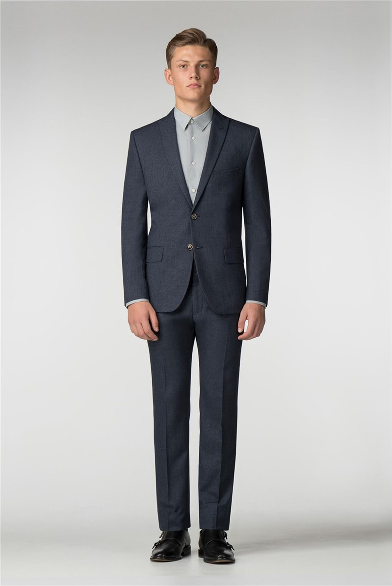Blue Puppytooth Slim Fit Suit