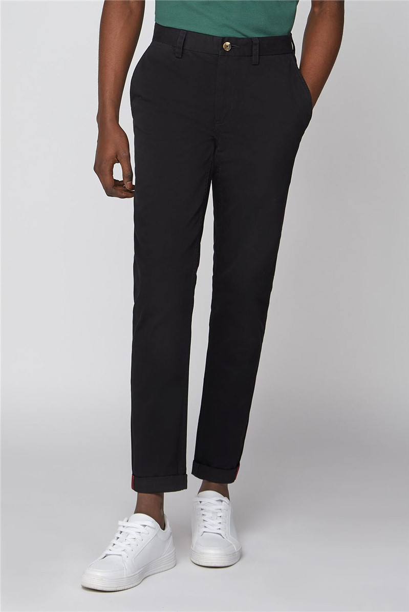 Black Slim Leg Chino Trouser