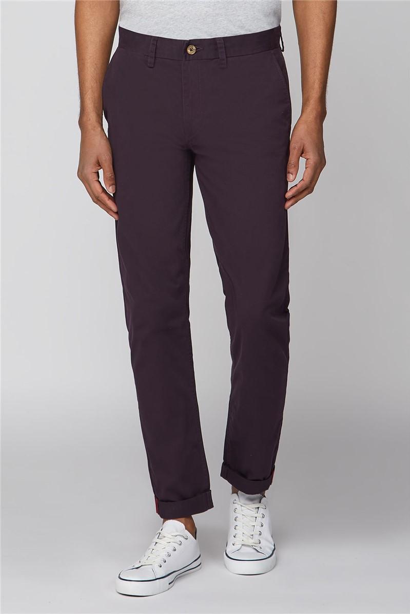 Purple Straight Leg Chino Trouser